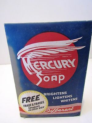 Vintage Mercury Large Size Laundry Soap Box With Contents Free Coupon Inside