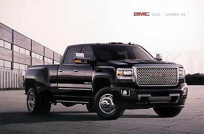 2016 GMC Sierra HD pickup truck new vehicle brochure