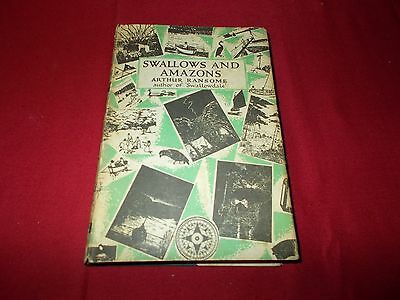 RANSOME Arthur  SWALLOWS AND AMAZONS  H/back 1962.  Dust Jacket