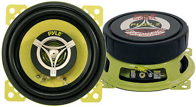 "Pyle Gear 4"" 10cm 100mm 280w Coaxial Two Way Pair Car Door Dash Shelf Speakers"