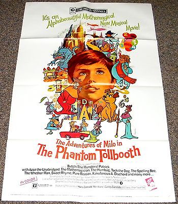 THE PHANTOM TOLLBOOTH 1971 ORIG MOVIE POSTER! BUTCH PATRICK (TV's Eddie Munster)
