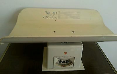 Vintage DETECTO Baby Scale Boy Girl Chart Nursery 1950s w Graphics