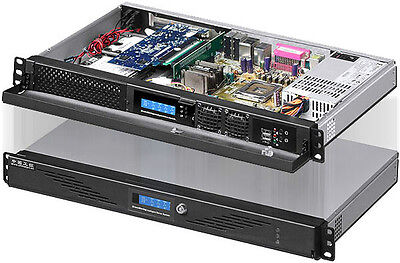 "1U ITX LCD (5.25"" / 3.5""HDD / 2x2.5"" HDD) (Rackmount Chassis)(D:9.84"" Case) NEW"