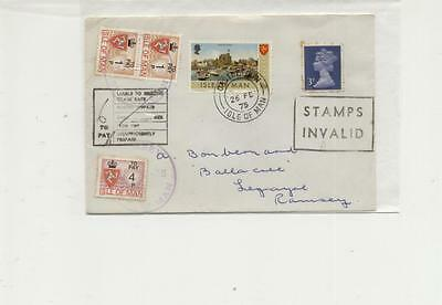 Isle of Man 1975 Castletown to Ramsey Postage Due Cover