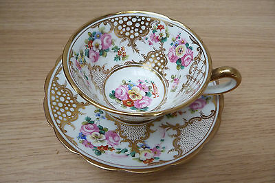 B)Superb Regency Hand Painted And Heavy Gilded Coalport Cup And Saucer. C1830