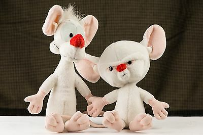 """vintage DAKIN PINKY AND THE BRAIN 10"""" Animaniacs 2 pieces Warner Brothers"""