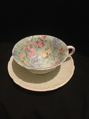 Shelley Stylish Cabinet Cup And Saucer.  Damaged