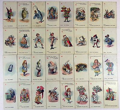 Vintage Carreras Full Set Of 48 Alice In Wonderland Cigarette Cards