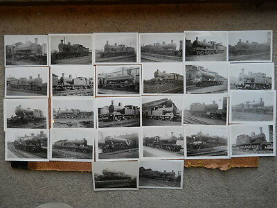 25 Small Photographs of Steam Locomotives, mostly LNER