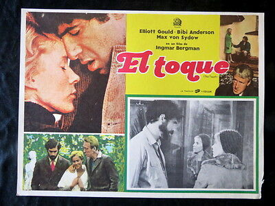 INGMAR BERGMAN The Touch BIBI ANDERSON ELLIOT GOULD LOBBY CARD 1971