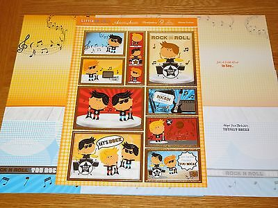 Hunkydory Rock Star - Foiled Toppers, Inserts & Cardstock Kit - Craft & Cards