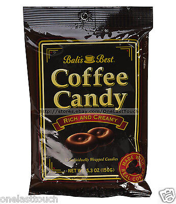 BALI'S BEST 5.3 oz Bag COFFEE CANDY Rich and Creamy FUSION GOURMET Exp.9/18+ NEW