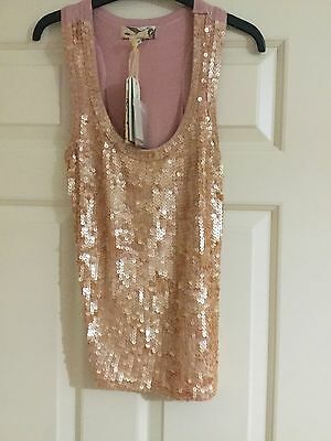 LADIES  SEQUIN PINK TOP. SIZE Small BRAND NEW.