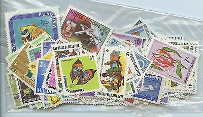MALDIVES--Accumulation of 133 stamps