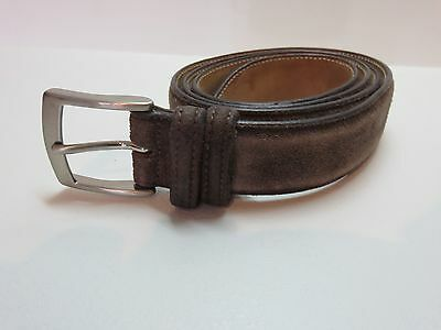 "Velasca Milano Men's Brown Suede Leather Belt - Approx Size 40"" - Good Condition"
