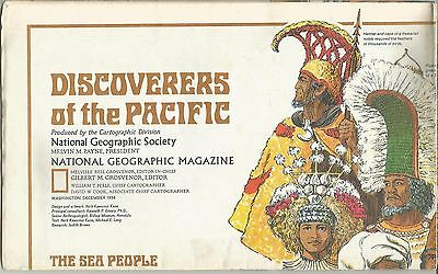 Discoverers of the Pacific National Geographic Society Map December 1974