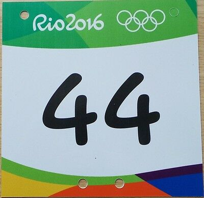 2016 Rio Olympic Mountain Bike Cycling Competitor Number Plate