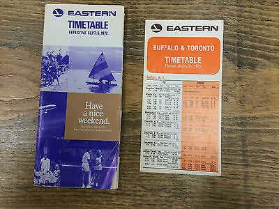 Eastern Air Line Timetable 1972/1973 - Lot Of 2
