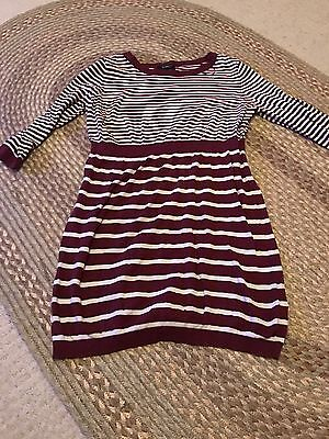 New Look Maternity Smock/tunic Top Jumper Size 14 Striped