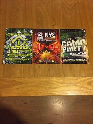 3 X Drum And Bass Rave Flyers