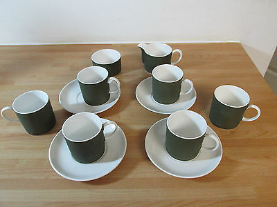 Vintage Wedgwood Susie Cooper Fine Bone China 12 Piece Coffee Set