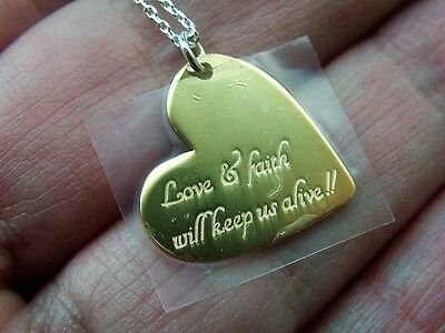 Silver Love And Faith Necklace