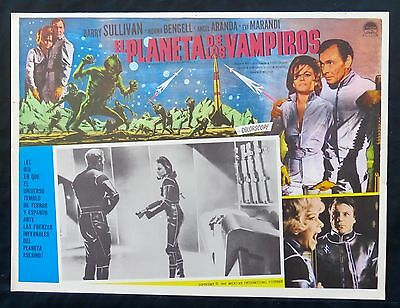 PLANET OF THE VAMPIRES Barry Sullivan NORMA BENGELL LOBBY CARD N MINT 1965