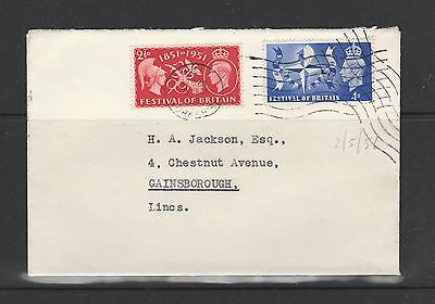 GB FDC 1951 Festival of Britain, Hull cds