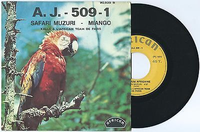 "7"" LE GRAND KALLE & L'AFRICAN TEAM Safari Muzuri (African 70 FRANCE)afro beat EX"