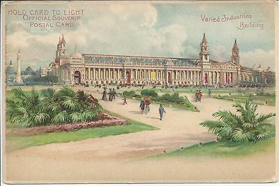 Hold To Light Postcard,1904 Worlds Fair,st. Louis,varied Industries Building
