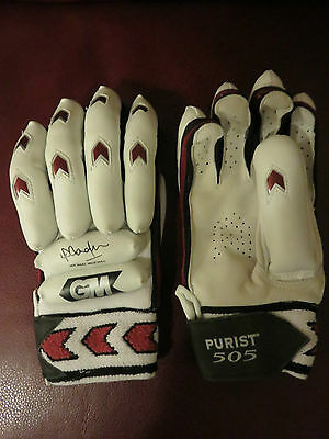 "Gunn & Moore Youth's Purist ""Michael  Vaughan"" 505 Batting Gloves - RH - BNWT"