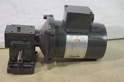 Boston Gear Fincor Dc Motor & Speed Reducer Pm916T  90Vdc  Output Speed: 350Rpm