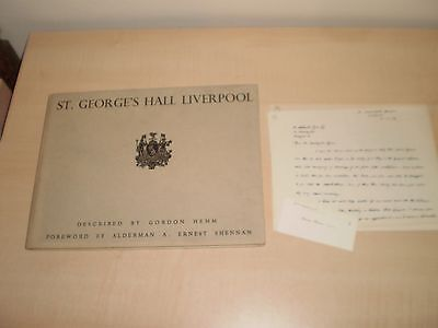1949 Liverpool St.Georges Hall By Gordon Hemm Fully Illustrated Hardcover Book