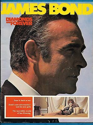 "1971 Film Brochure For James Bond Film ""diamonds Are Forever"" Sean Connery"
