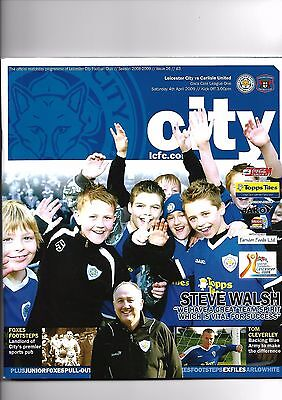 Leicester City  v  Carlisle United, 4th April 2009