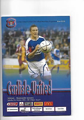 Carlisle United  v  Tranmere Rovers, 21st October 2006