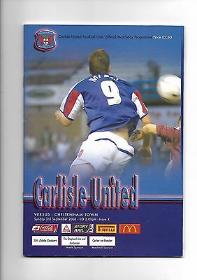 Carlisle United  v  Cheltenham Town, 3rd September 2006