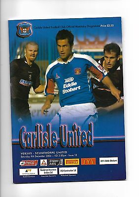 Carlisle United  v  Scunthorpe United, 9th December 2006