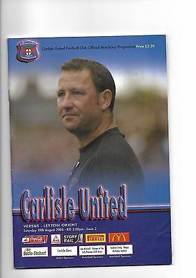 Carlisle United  v  Leyton Orient, 19th August 2006