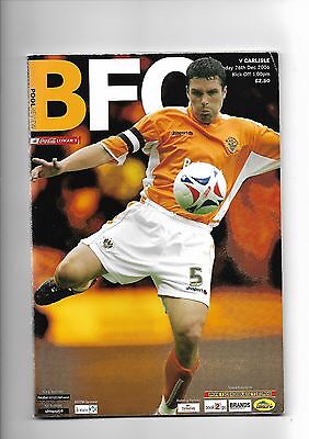Blackpool  v  Carlisle United, 26th December 2006