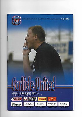 Carlisle United  v  Doncaster Rovers, 5th August 2006