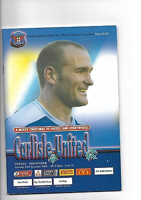 Carlisle United  v  Brentford, 23rd December 2006