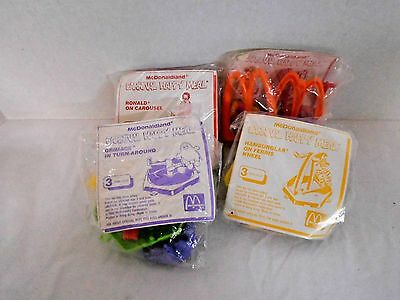 Lot of 4 McDonald's Happy Meal McDonaldland Carnival Collectible Toys