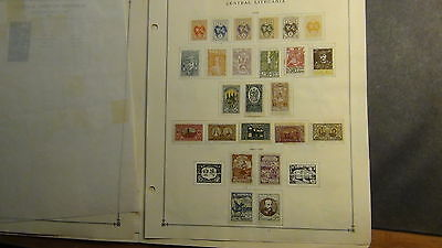 Cent Lithuania stamp collection on Scott International  pages