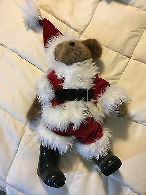 Vintage Boyds Bears Collection Brown Santa Claus Teddy Bear Christmas Doll Toy