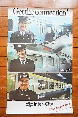 1978 Inter City Get The Connection! Original Railway Travel Poster