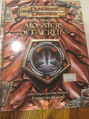 D&D Monster Compendium Monsters of Faerun James Wyatt Forgotten Realms 2001 PB
