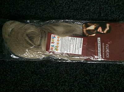 """One Piece Curly 24"""" Long Clip In Hair Extensions Ash Blonde New In Pack"""