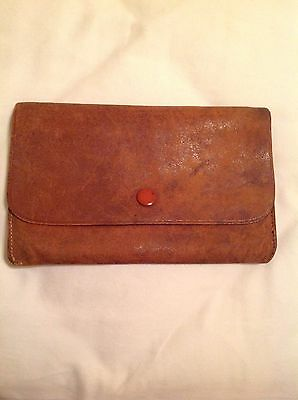 Leather Wallet 143 Years Old Stamped And Name Engraved Soft Leather