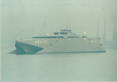 Giant INCAT Catamaran seacat Navy Military HSV-X1 high speed vessel stealth ship